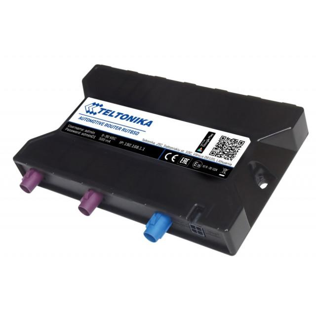 Teltonika RUT850 - GNSS + WiFi 2G/3G/4G Automotive Router with SIM Card Slot