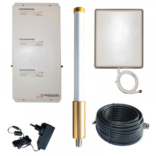 StellaDoradus SD-RP1002-GDW-O Repeater Kit - Boosts Mobile Signal In Ships / Boats, Yachts