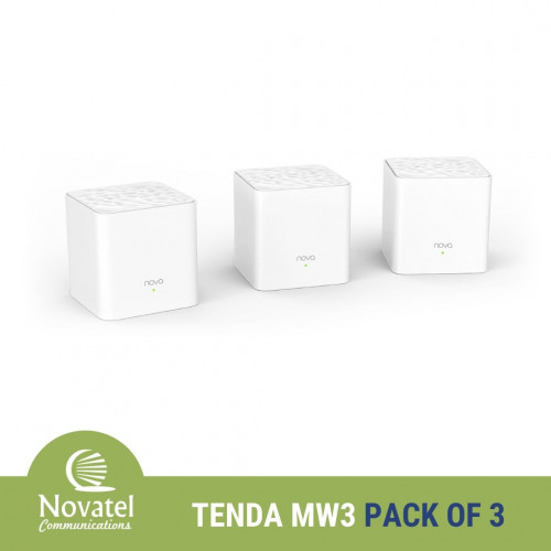 Tenda Nova MW3 AC1200 Whole Home Mesh WiFi System - PPPoE & Bridge Mode Capable (Pack of 3)