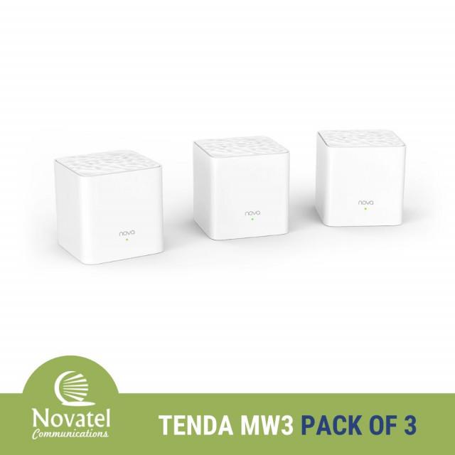 Tenda Nova MW3 AC1200 Whole Home Mesh WiFi System - PPPoE & Bridge Mode Capable (Pack of 2 OR 3)