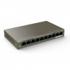 Tenda TEF1110P-8-102W Network Switch with 8-port PoE (8-Port 10/100Mbps plus 2-Gigabit)