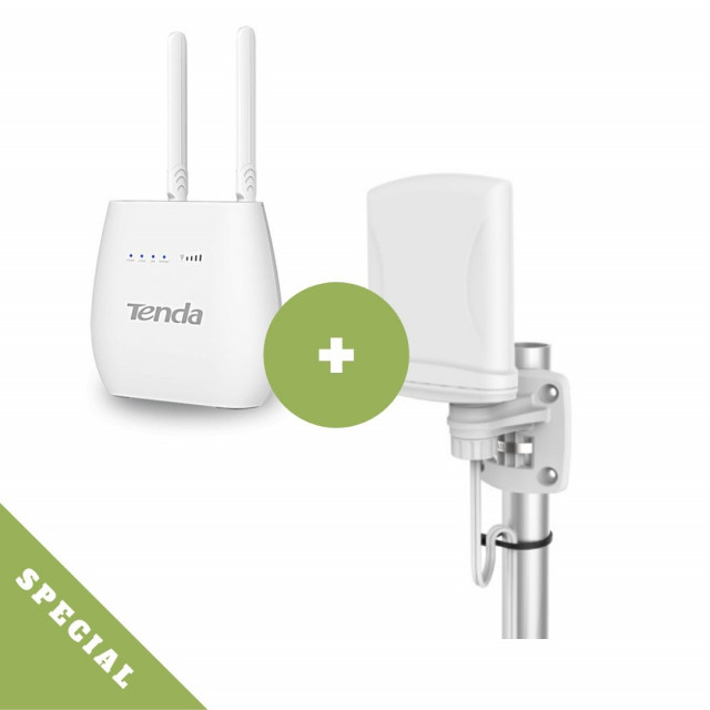 Poynting XPOL-1 LTE Antenna + Tenda 4G LTE Router Bundle
